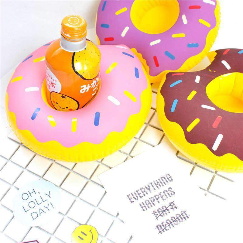 Frosted Donut Inflatable Party Pool Drink Serving Float