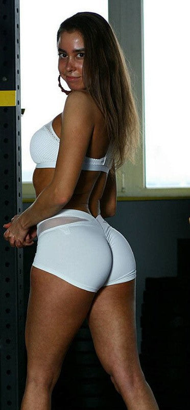 Contrast Mesh Butt Lifting Active Shorts gallery 6