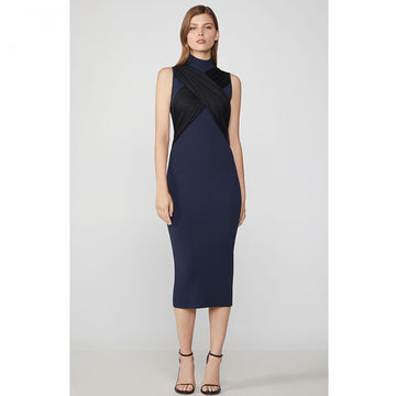Half A Turtleneck Bodycon Wrap Fitted Dress