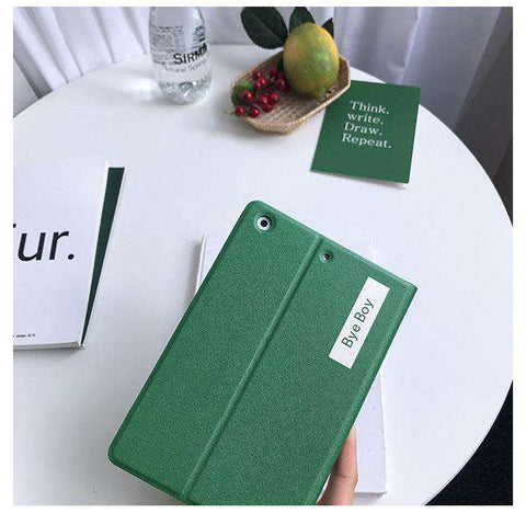 Solid Color with Letter Printed Apple iPad Cover Case gallery 3