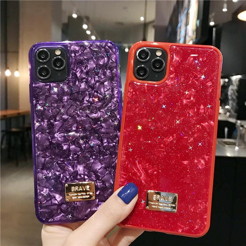 Four Colors Marble Shining Phone Case for Samsung gallery 6