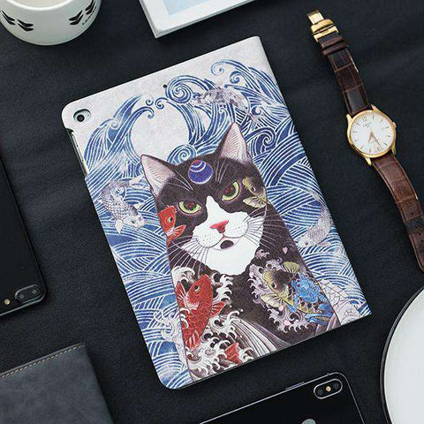 Unique Cat Pattern Apple iPad Cover Case gallery 4