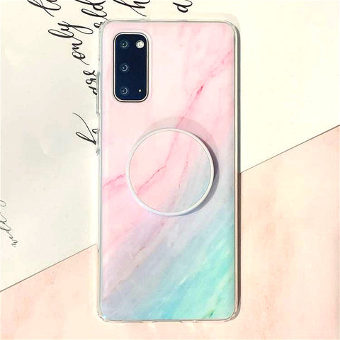 Gradient Shockproof Marble Phone Case for Samsung with Phone Holder gallery 5