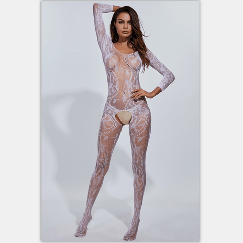 Extreme Sexy Floral Bodystocking ( 3 Pcs)