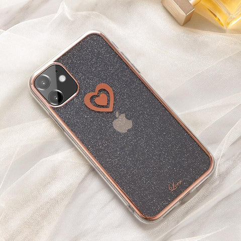 Cute Electroplate Heart/Diamond Pattern Phone Case for Samsung gallery 2