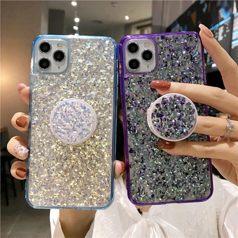 Four Colors Glittering Rhinestone Phone Case for Samsung with Phone Holder gallery 12