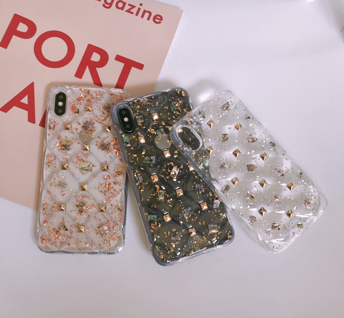 Rubber Diamond Decoration Phone Cases For All Iphone-Iphone 8Plus