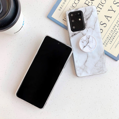 Smooth Marble Crack Detail Phone Case with Phone Holder gallery 7