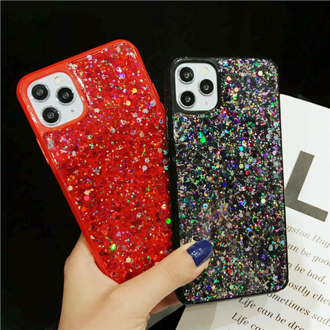 Luxury Sparkle Sequins Bling Shockproof Phone Case for Samsung gallery 1