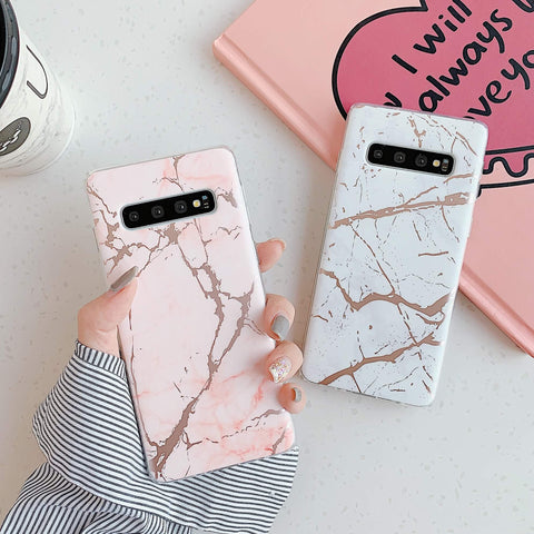 Matte Sand Marble Phone Case for Samsung gallery 1