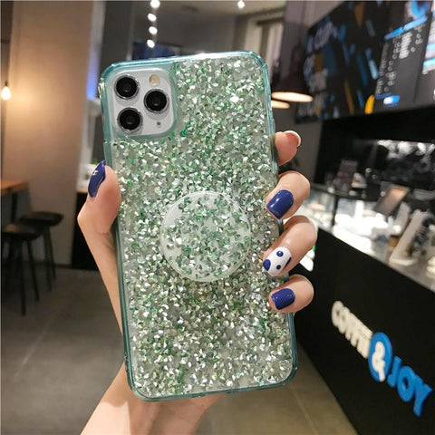 Four Colors Glittering Rhinestone Phone Case for Samsung with Phone Holder gallery 9