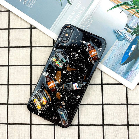 Creative Pill Decoration Silicone Soft Phone Case For iPhone