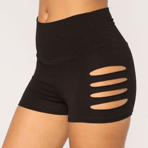 High Waist Cut Out Side Active Shorts