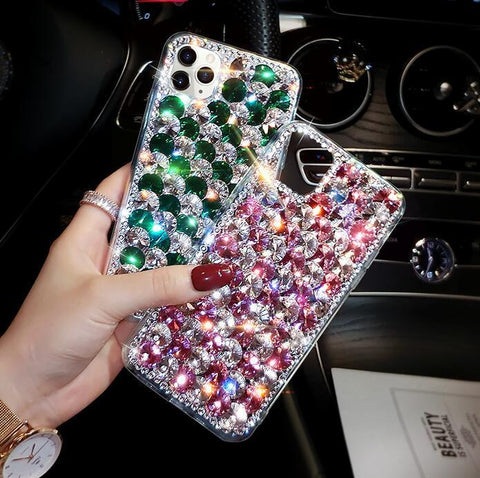 Full Rhinestone Cover Shockproof Phone Case for Samsung gallery 11