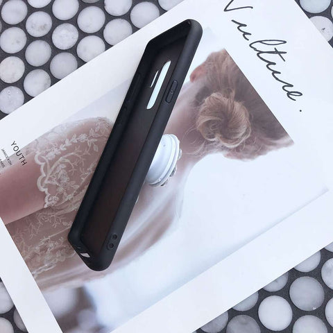 Luxury Marble Pattern Phone Case for Samsung with Phone Holder gallery 4