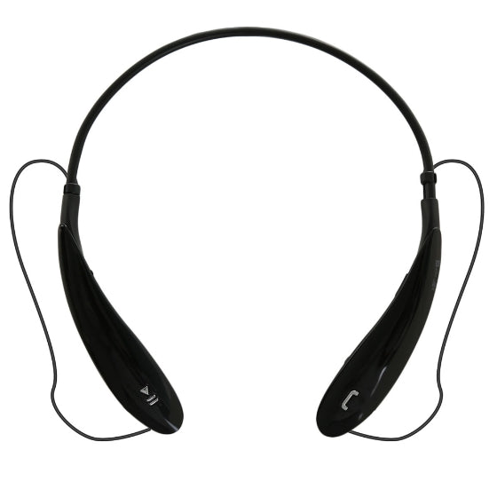 HBS800 Sports Bluetooth Headset Wireless Stereo Music Headphone Neckband Style Earphones for iPhone Samsung Black