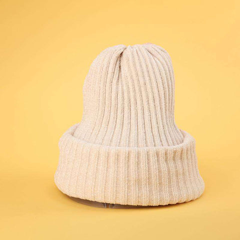 Winter Thick Soft Chenille Knitted Woolen Hat gallery 5