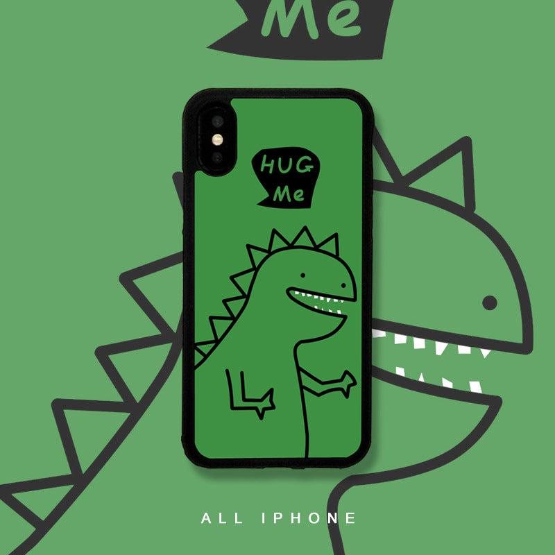 Little Dinosaur Sketch Pattern iPhone Case