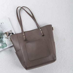 Pocket Winged Shopper Tote Bag with a Matching HandBag