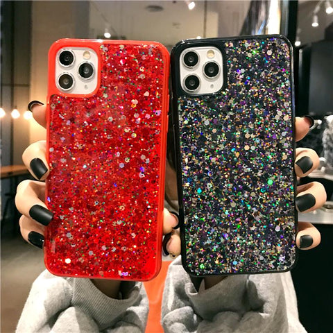 Luxury Sparkle Sequins Bling Shockproof Phone Case for Samsung gallery 8