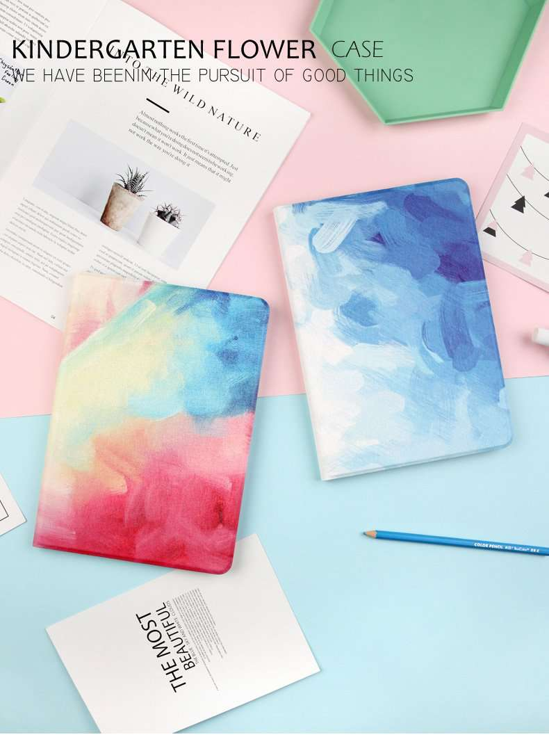 Splashing Colorful Ink Style iPad Cover Case