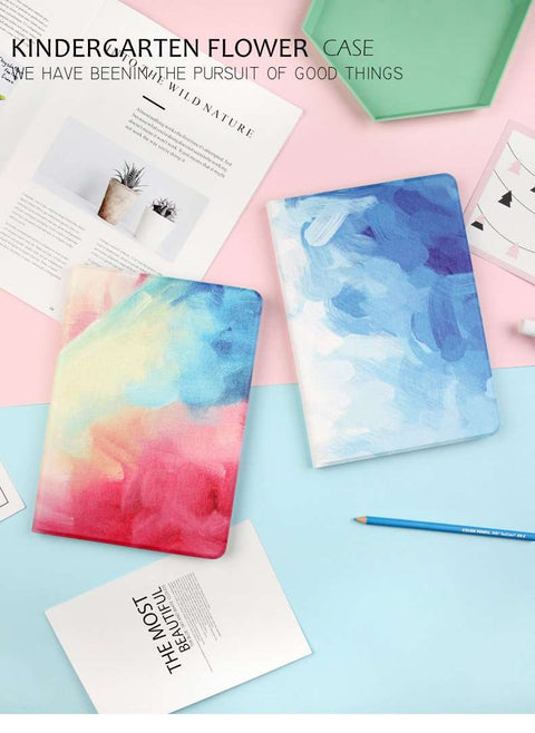 Splashing Colorful Ink Style iPad Cover Case gallery 1