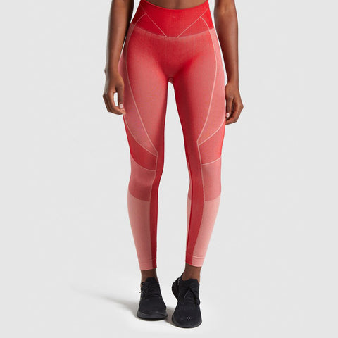 Seamless Color Block High Rise Sports Leggings