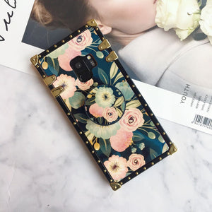 Floral Print Phone Case for Samsung with Phone Holder