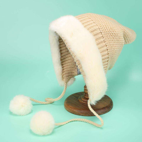Women's Winter Cute Thick Conical Ear hat gallery 5