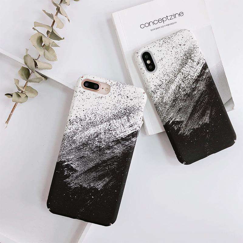Black N White Matte iPhone Case
