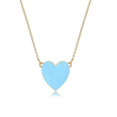 3 Colors Heart Pendant Necklace