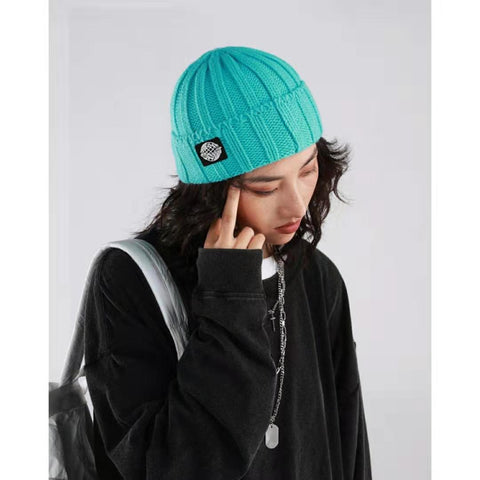 Retro Textured Warm Crimping Knitted Elastic Hat gallery 3