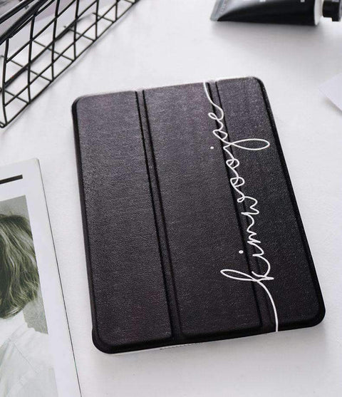 Contracted Literary Letter Printed Apple iPad Cover Case gallery 5