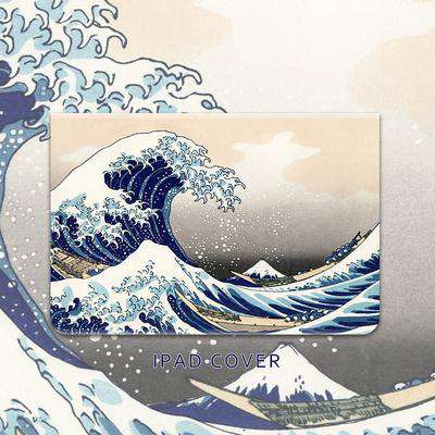 Waves Pattern Apple iPad Cover Case gallery 2