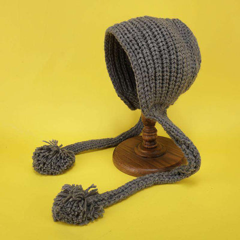 Hand-made Cute Warm Knitted Woolen Ear Hat with Long Braid gallery 8