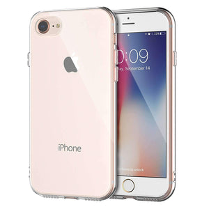 Crystal Transparent Shock Absorption TPU Rubber Gel Case (Clear) compatible with iPhone 7/8