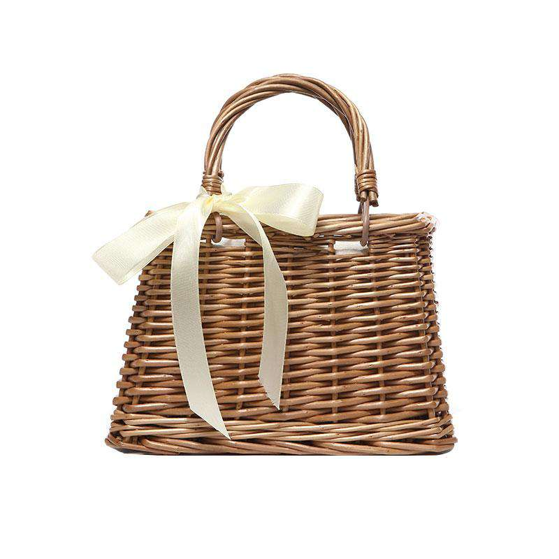 Summer Holiday Beach Style Straw Bag Top-handle Tote Bag