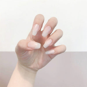 White Ballet Shoes Magic Press On Nail Manicure