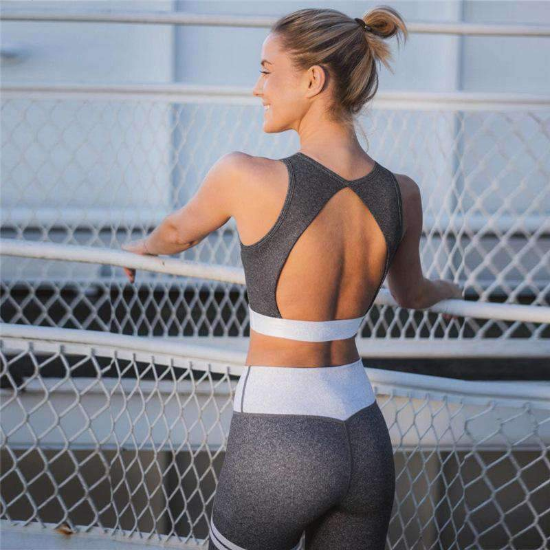 Backless Sports Bra & Pants Leggings Yoga Set
