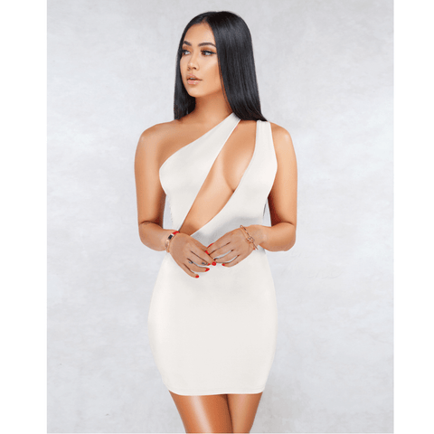 Sexy One Shoulder Bust Cut Out Bodycon Dress gallery 6