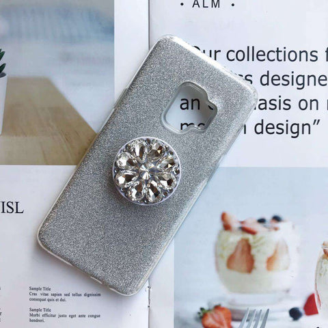 Luxury Solid Color Bling Samsung Case with Phone Holder gallery 2