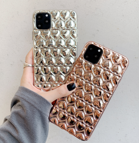 Stereo Flash Heart Pattern iPhone Cases