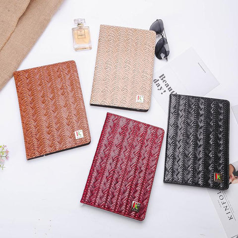 Knitted Grain Pure Color Foldable iPad Cover Case gallery 8