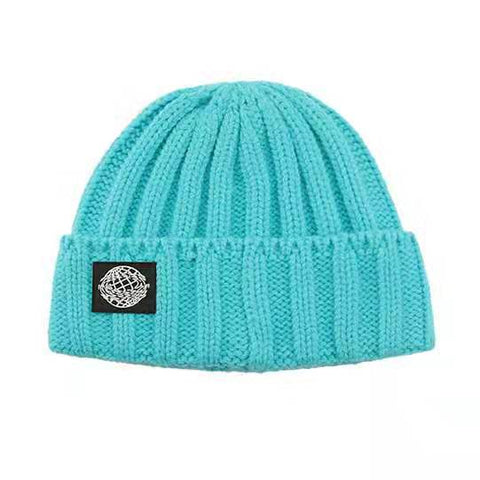 Retro Textured Warm Crimping Knitted Elastic Hat gallery 4
