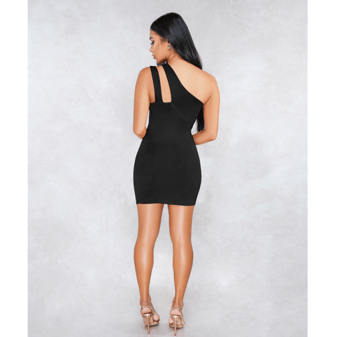 Sexy One Shoulder Bust Cut Out Bodycon Dress gallery 5