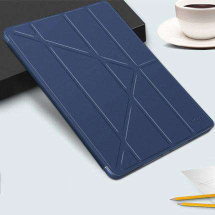 Solid Color Apple iPad Cover Case with Capacitive Pen