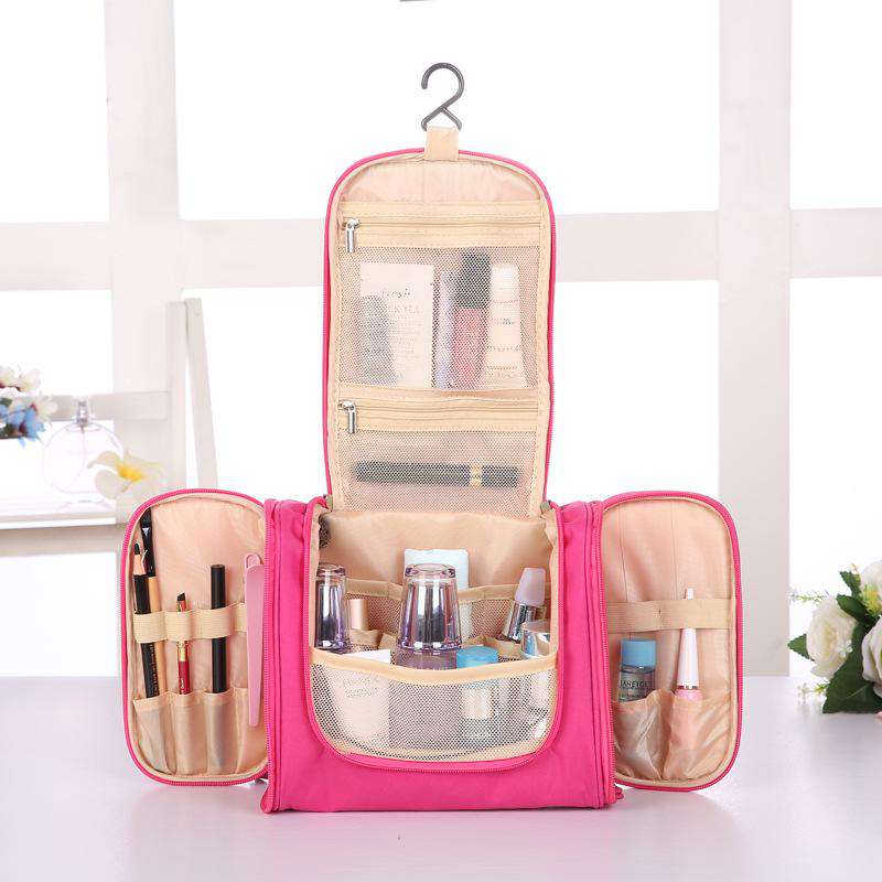 Portable Cosmetic Travel Bag with Hook