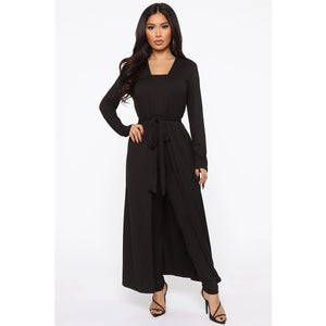 Off Shoulder Bardot Cardigan & Jumpsuit