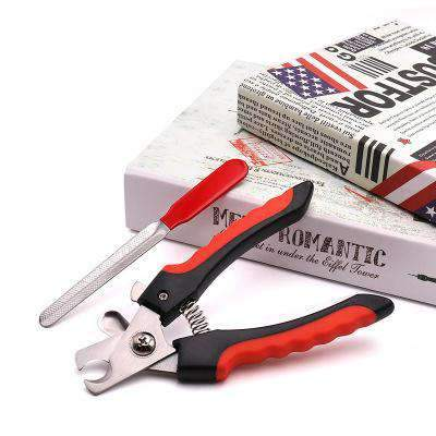 Dog Nail Clippers and Trimmer- With Safety Guard to Avoid Over-cutting Nails & Free Nail File