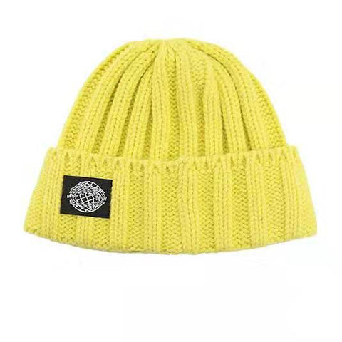 Retro Textured Warm Crimping Knitted Elastic Hat gallery 2